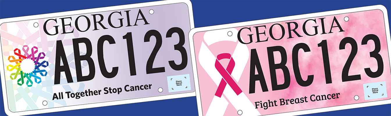 Georgia's Two Fight Cancer License Plates