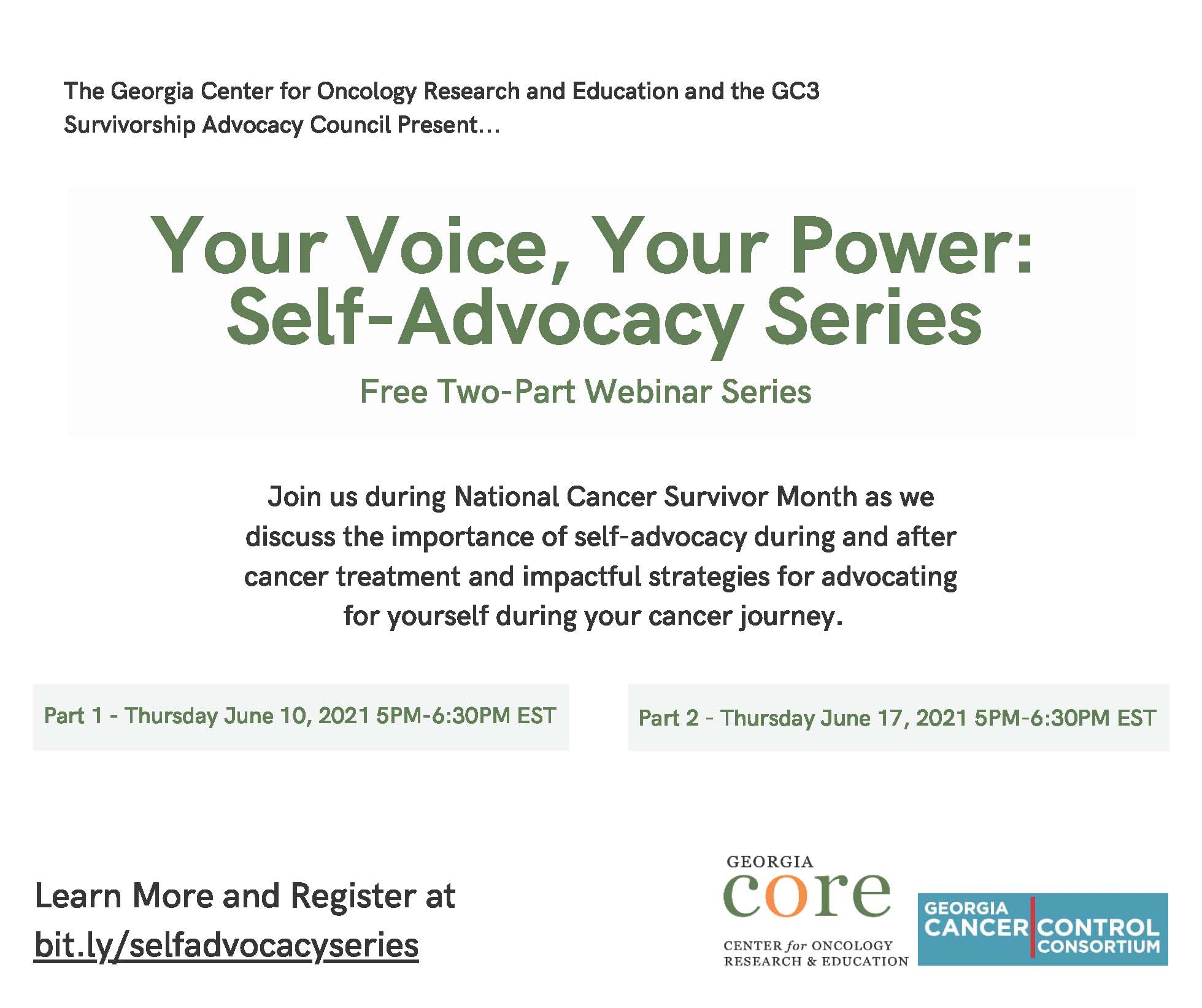 Your Voice, Your Power:  Self-Advocacy Series - Part 2