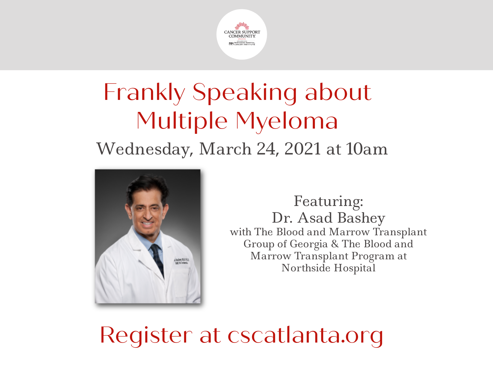 Live Virtual Event - Frankly Speaking about Multiple Myeloma