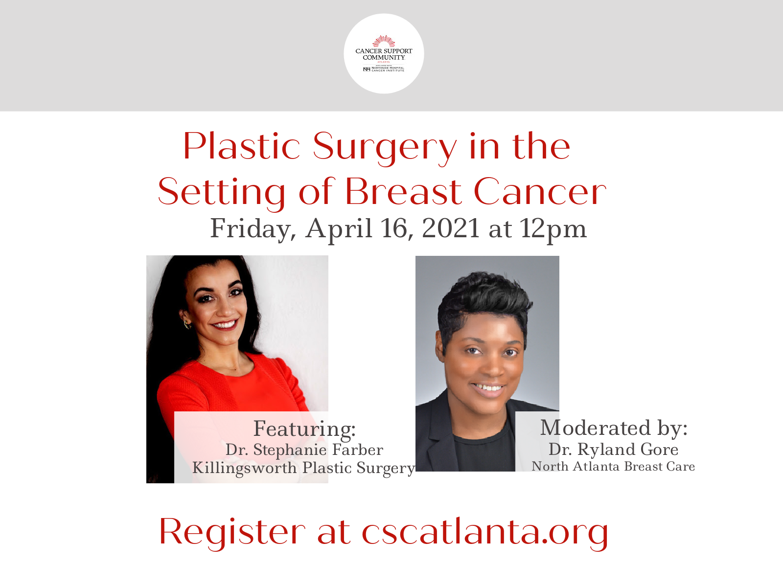Live Virtual Event - Plastic Surgery in the Setting of Breast Cancer