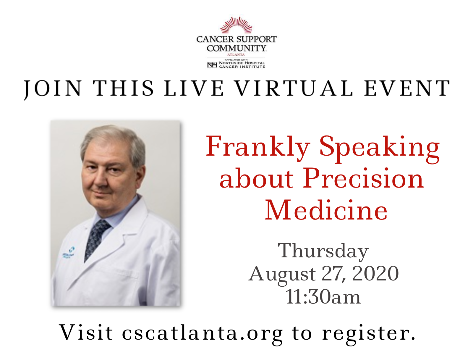 Live Virtual Event - Frankly Speaking about Precision Medicine