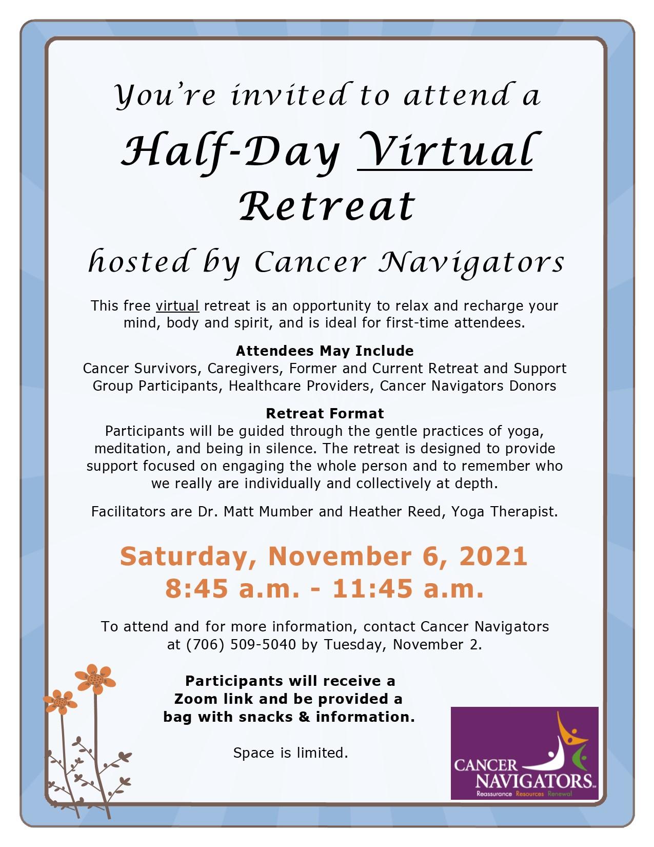 Half Day Virtual Retreat